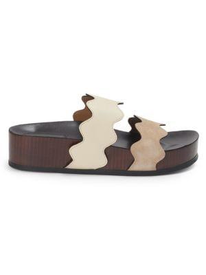 Lauren Leather Slides