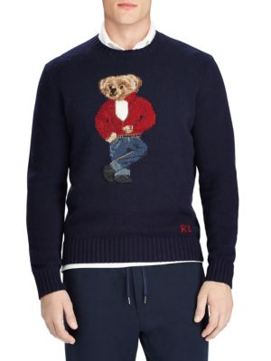 Rebel Bear Wool Crewneck Sweater