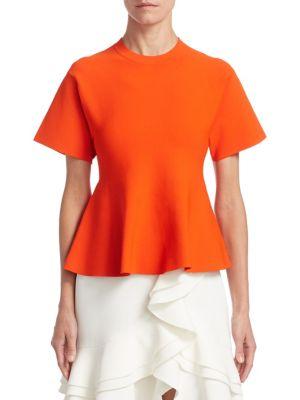 Short Sleeve Peplum Top
