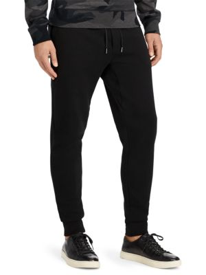 Embroidered Double-Knit Jogger Pants