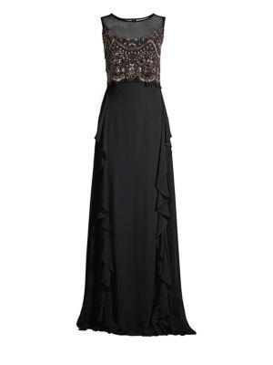 Embellished Popover Gown