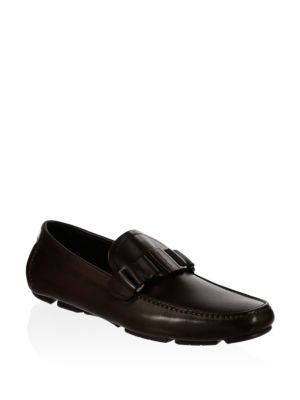 Sardegna Buckle Leather Loafers
