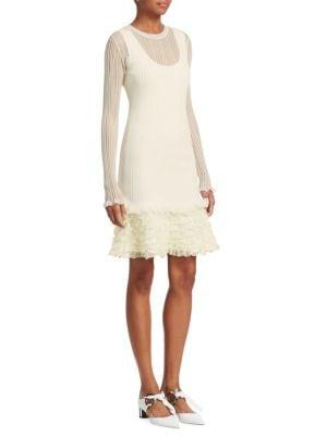 Sheer Ruffle Dress