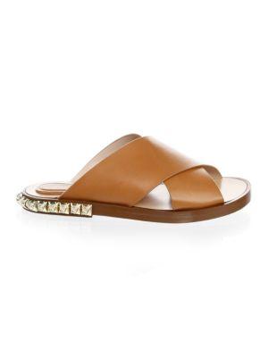 Rockrose Leather Slides