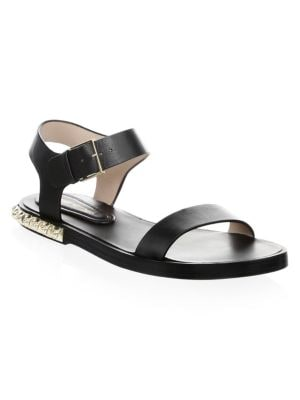 Leather Ankle-Strap Sandals
