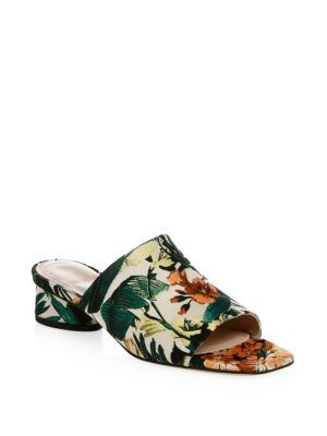 Slide-In Embroidered Mules