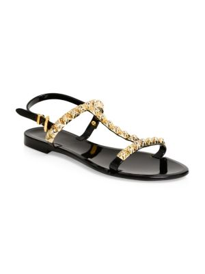 Studded Jelly Flat Sandals
