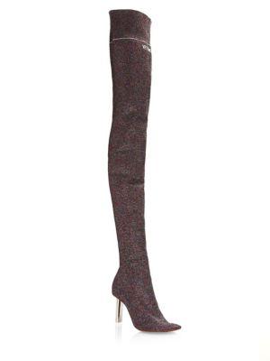 Lurex Thigh High Sock Boot