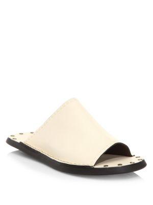 Studded Leather Slides