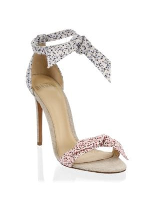 LOVELY CLARITA FLORAL-PRINTED SANDALS