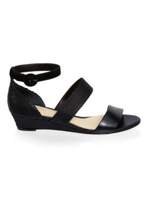 New Yanna Python & Leather Platform Sandals