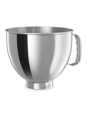 5-Quart Polished Stainless Steel Bowl