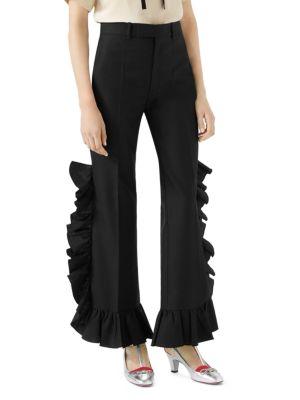 Mohair Ruffle Pants