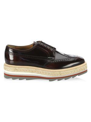 Creeper Leather Platform Sneakers