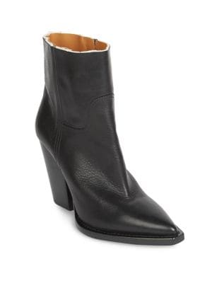 Theo Raw Leather Booties