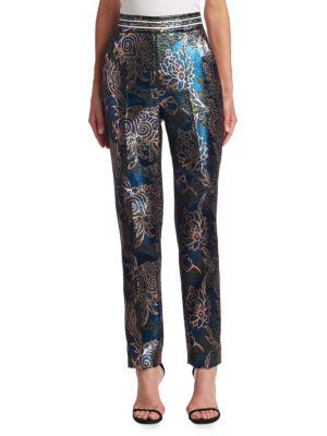 Lurex Jacquard Trousers