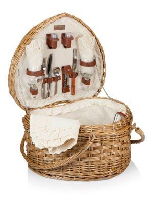 Heart Picnic Basket Set