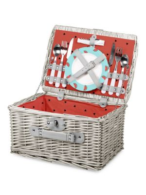 Watermelon Catalina Picnic Basket Set