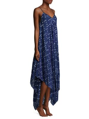 Shibori Dots Cotton Scarf Dress