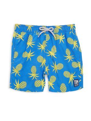 Toddler's, Little Boy's & Boy's Pineapple Swimming Trunks