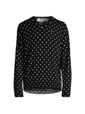 Polka Dot Wool Sweater
