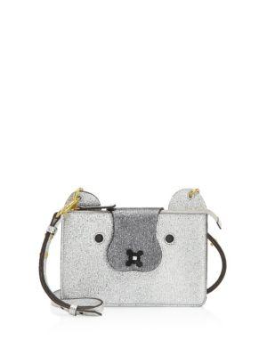 Husky Crossbody Pouch in Silver Crinkled Metallic Leather Anya Hindmarch Nicekicks Cheap Online Buy Cheap Prices zwylAfhw