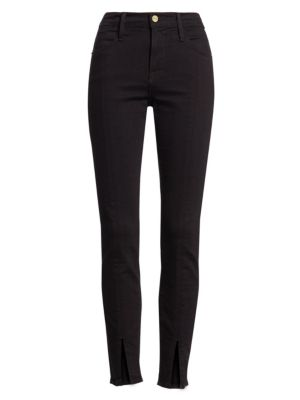 Le High Skinny Front Split Jeans