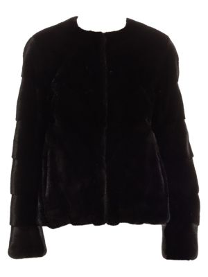 Chevron Mink Jacket