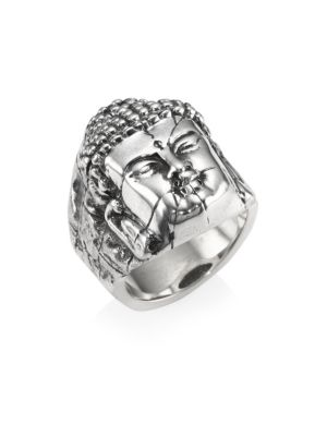 Sterling Silver Temple Ruin Buddha Ring
