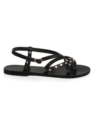 Strappy Leather Flat Sandals