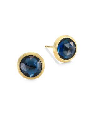 Jaipur London Blue Topaz Stud Earrings