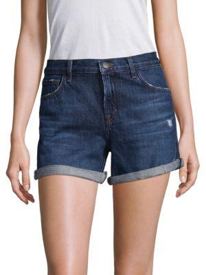 Johnny Rolled Cuff Denim Shorts