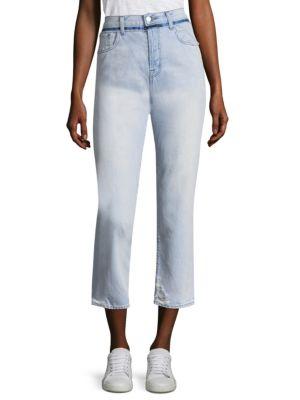 J BRAND | Ivy Slim-Fit Distressed Cropped Jeans | Goxip
