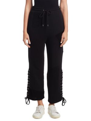 Clearance With Mastercard Black Patch Boyfriend Lounge Pants Alexander McQueen Cheap Sale Really Clearance Genuine 4qdWd9q2E