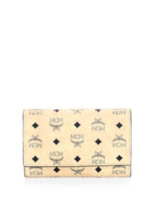 Leather Snap-Button Continental Wallet