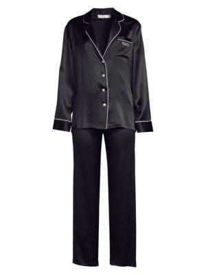 GINIA | Fleurette Silk Pajamas | Goxip