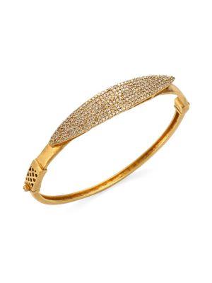 BAVNA 18K Gold & Diamond Pavé Bangle