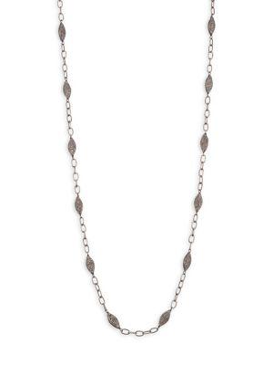 BAVNA Diamond Pavé Bead & Chain Necklace