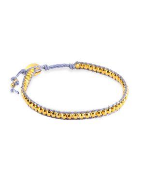 Yellow Gold Bead Cord Bracelet
