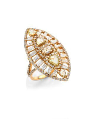 Sunburst Diamond & 18K Rose Gold Ring