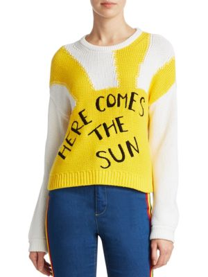 Alice + Olivia x Beatles Leena Cropped Sweater