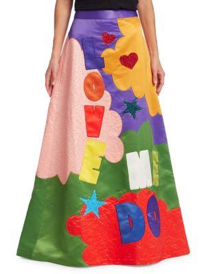Alice + Olivia x Beatles Ursula Embellished A-Line Ballgown Skirt