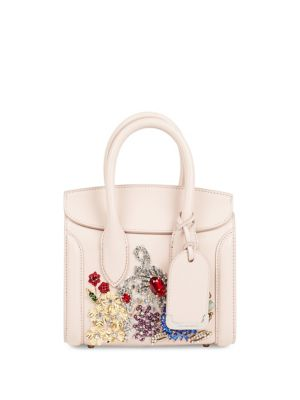 Embroidered Heroine Leather Satchel 21