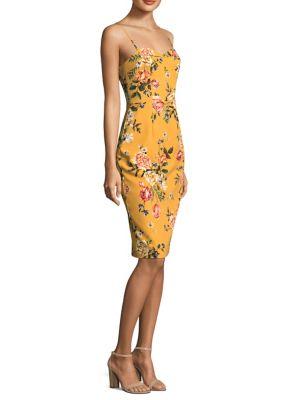 Floral Print Sheath Dress by Black Halo