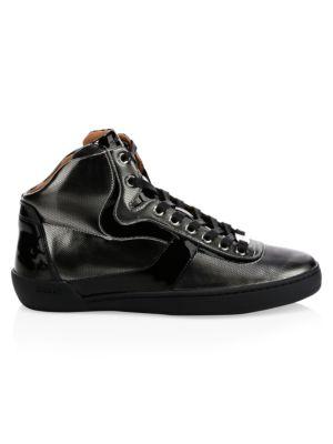BALLY Eroy High Top Metallic Sneakers