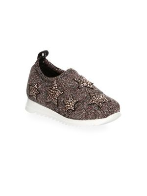 Baby's & Toddler's Embellished Star Pull-On Sneakers