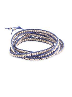 Silver & Periwinkle Cord Bracelet