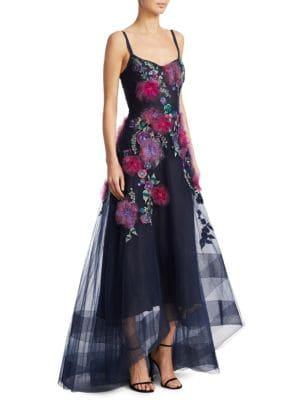 Embellished Hi-Lo Corset Gown