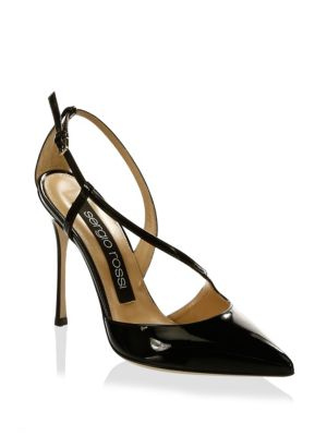Leather Ankle-Strap Pumps