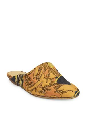 Round Toe Velvet Mules